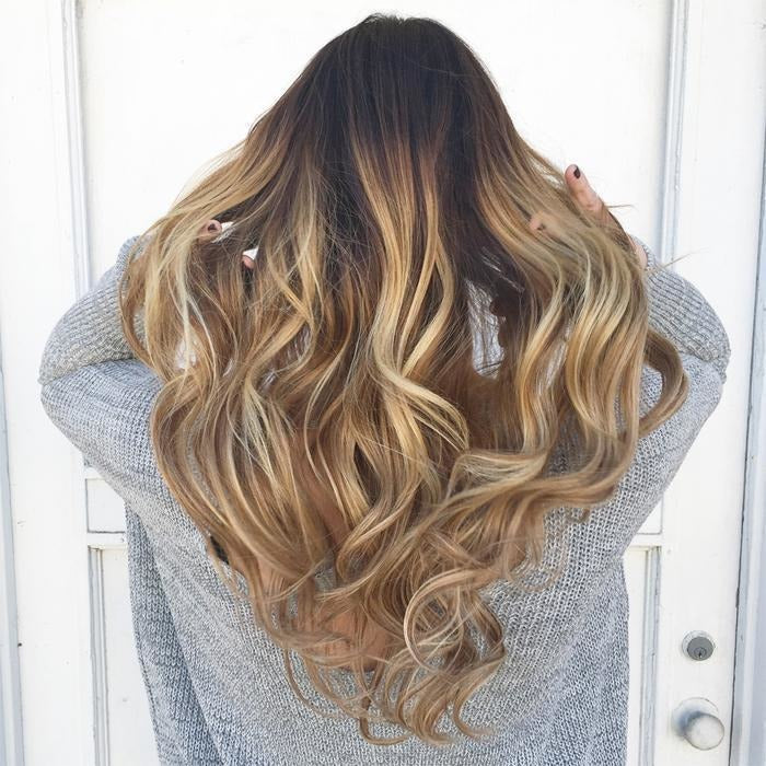 18 22 Silky Straight Gold 100 Remy Human Hair Extensions By