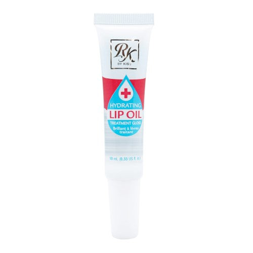 [ 4 PC ] SET of Mint, Rosehip and Coconut Oil Broadway Vita-Lip Clear Lip Gloss + 1 Ruby Kisses Hydrating Oil 0.47oz/14ml by Kiss - Waba Hair and Beauty Supply