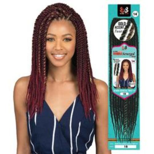 "Bomba Senegal Twist 18"" and 24"" African Roots Synthetic Braids By Bobbi Boss"