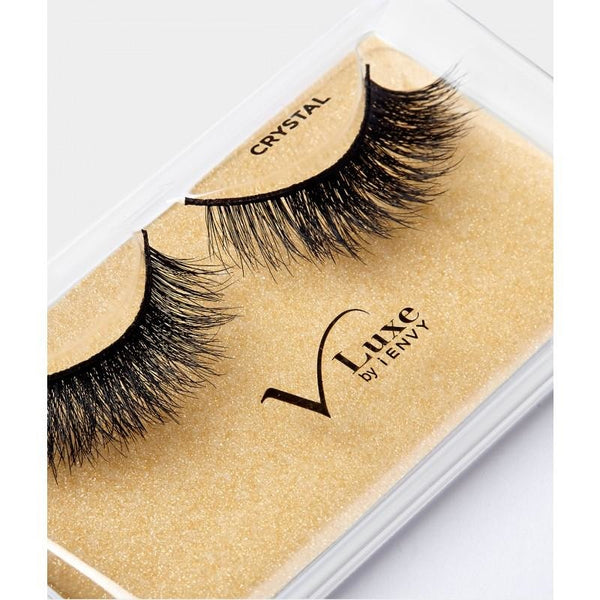V-Luxe I Envy - Vlef02 Crystal - Mink Lash Inspired 100% Virgin Remy Tapered End Strip Eyelashes By Kiss - Waba Hair and Beauty Supply
