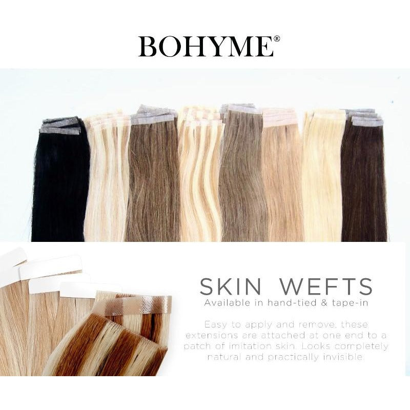 Tape In Extensions Skin Weft Adhesive Bohyme 100 Remy Human Hair