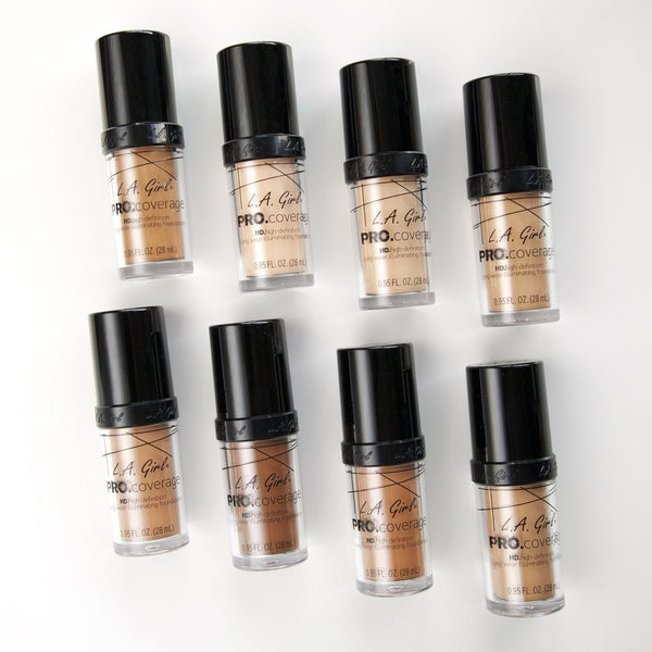 Pro. Coverage Hd Long Wear Illuminating Liquid Foundation By L.A. Girl - Waba Hair and Beauty Supply