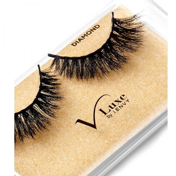 V-Luxe I Envy - Vlef03 Diamond - Mink Lash Inspired 100% Virgin Remy Tapered End Strip Eyelashes By Kiss - Waba Hair and Beauty Supply