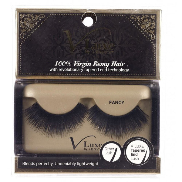 V-LUXE I ENVY - VLE06 FANCY - 100% VIRGIN REMY TAPERED END STRIP EYELASHES BY KISS