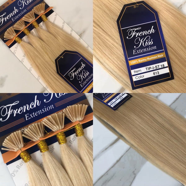 "French Kiss I-Tip Micro-bead Cold Fusion 18"" And 22"" 100% Remy Human Hair Extension - Straight - Waba Hair and Beauty Supply"
