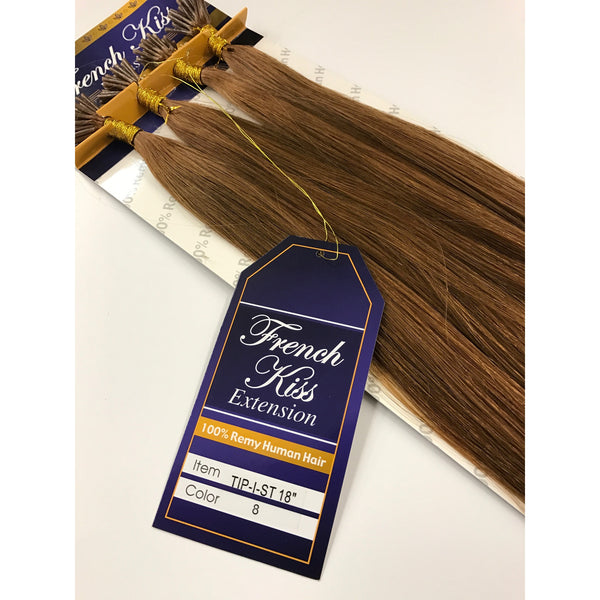 "French Kiss I-Tip Micro-bead Fusion 18"" 100% Remy Human Hair Extension - Straight - By Jazz Wave - Waba Hair and Beauty Supply"