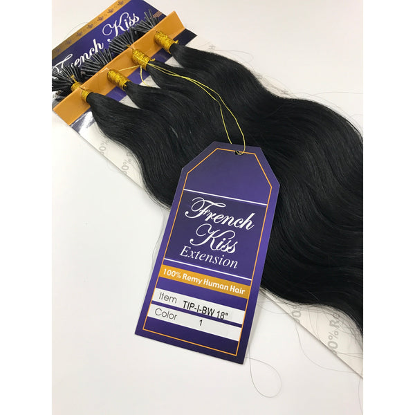 "FRENCH KISS I-TIP 18"" 100% REMY HUMAN HAIR EXTENSION - BODY WAVY"