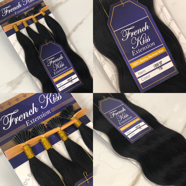 "French Kiss I-Tip 18"" 100% Remy Human Hair Extension - Body Wavy - Waba Hair and Beauty Supply"