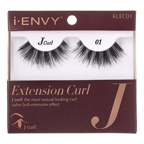 I Envy - KLEC01 - J Curl Extension Curl Invisible Band Lashes By Kiss - Waba Hair and Beauty Supply