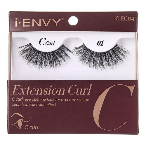 I Envy - KLEC04 - C Curl Extension Curl Invisible Band Lashes By Kiss - Waba Hair and Beauty Supply