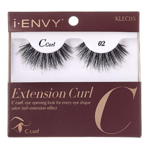 I Envy - KLEC05 - C Curl Extension Curl Invisible Band Lashes By Kiss - Waba Hair and Beauty Supply