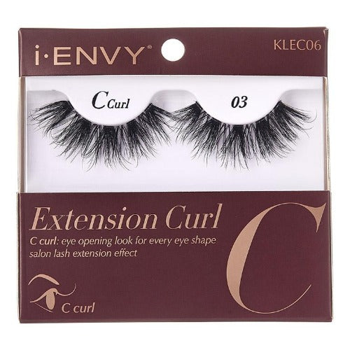 I Envy - KLEC06 - C Curl Extension Curl Invisible Band Lashes By Kiss - Waba Hair and Beauty Supply