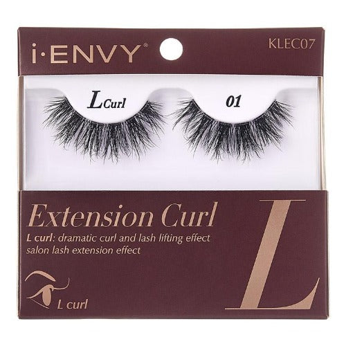 I Envy - KLEC07 - L Curl Extension Curl Invisible Band Lashes By Kiss - Waba Hair and Beauty Supply