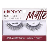 I Envy - KMEI02 - Matte 3D Invisible Band Lashes By Kiss - Waba Hair and Beauty Supply