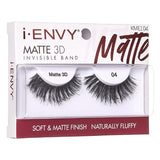 I Envy - KMEI04 - Matte 3D Invisible Band Lashes By Kiss - Waba Hair and Beauty Supply