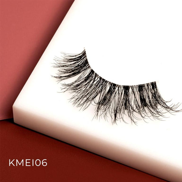I Envy - KMEI06 - Matte 3D Invisible Band Lashes By Kiss - Waba Hair and Beauty Supply