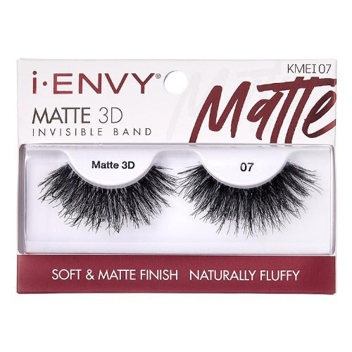 I Envy - KMEI07 - Matte 3D Invisible Band Lashes By Kiss - Waba Hair and Beauty Supply
