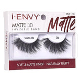 I Envy - KMEI08 - Matte 3D Invisible Band Lashes By Kiss - Waba Hair and Beauty Supply