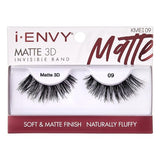 I Envy - KMEI09 - Matte 3D Invisible Band Lashes By Kiss - Waba Hair and Beauty Supply