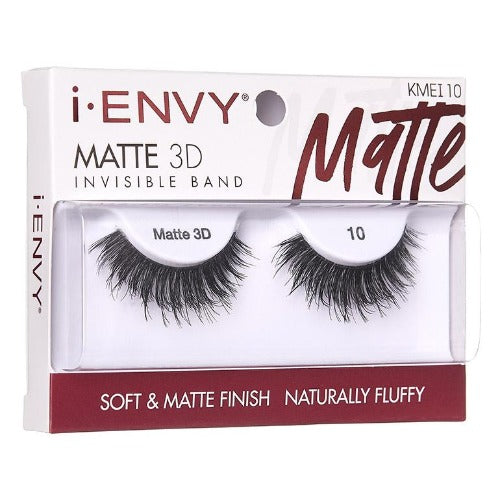 I Envy - KMEI10 - Matte 3D Invisible Band Lashes By Kiss - Waba Hair and Beauty Supply