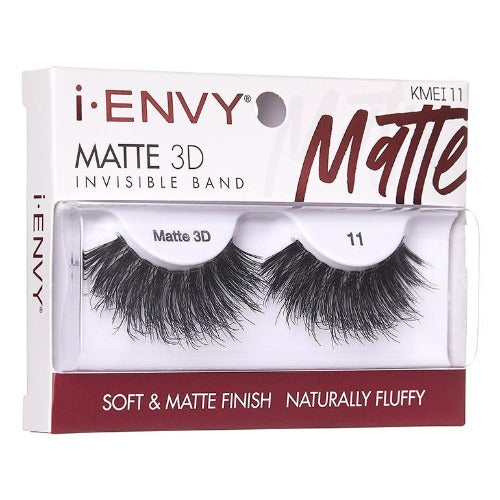 I Envy - KMEI11 - Matte 3D Invisible Band Lashes By Kiss - Waba Hair and Beauty Supply