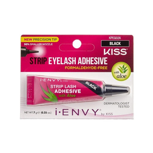 Aloe Infused Strip Lash Glue - Black - By Kiss - Waba Hair and Beauty Supply
