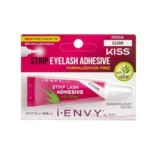 Aloe Infused Strip Lash Glue - Clear - By Kiss - Waba Hair and Beauty Supply
