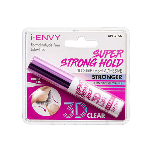 I Envy Super Strong 3D Hold Lash Glue - Clear/Black - By Kiss - Waba Hair and Beauty Supply