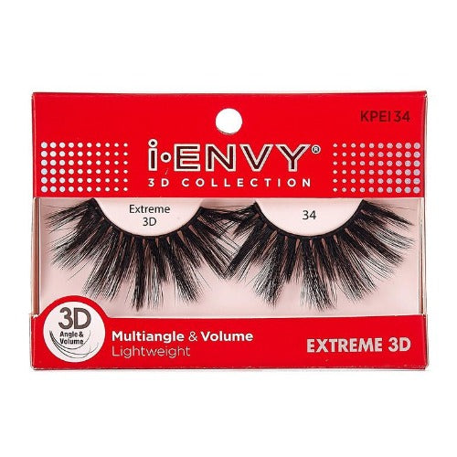 I Envy - KPEI34 - 3D Collection Extreme 3D Lashes By Kiss - Waba Hair and Beauty Supply