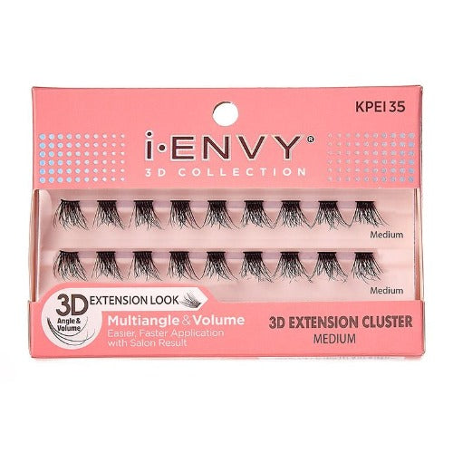 I Envy - KPEI35 - 3D Collection 3D Extension Cluster Medium Lashes By Kiss - Waba Hair and Beauty Supply