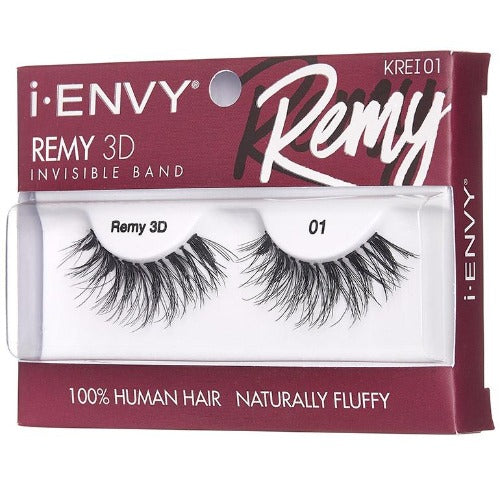 I Envy - KREI01 - Remy 3D Invisible Band Lashes By Kiss - Waba Hair and Beauty Supply