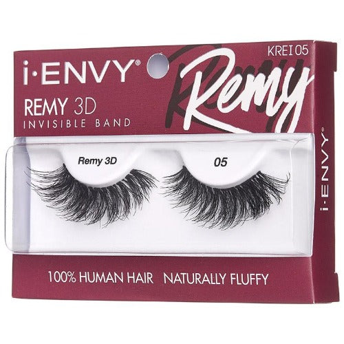 I Envy - KREI05 - Remy 3D Invisible Band Lashes By Kiss - Waba Hair and Beauty Supply