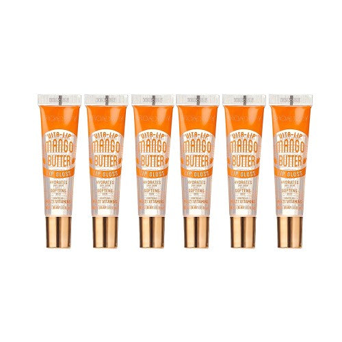 [ 6 PC ] SET of Mango Butter Broadway Vita-Lip Clear Lip Gloss 0.47oz/14ml by Kiss - Waba Hair and Beauty Supply
