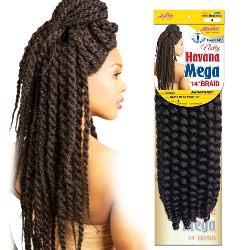 "Amour Natty 14"" Havana Mega NHM14 Crochet Braid Hair By Chade - Waba Hair and Beauty Supply"