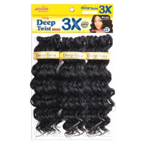 "Amour Natty Deep Twist 12"" 3X Pack Crochet Braid Hair By Chade Fashions - Waba Hair and Beauty Supply"