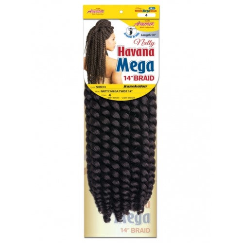 "Amour Natty 14"" Havana Mega NHM14 Crochet Braid Hair By Chade Fashions - Waba Hair and Beauty Supply"