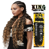 "King Braid Tips Ocean Wave 28"" 3X Braid Crochet Hair by Bobbi Boss - Waba Hair and Beauty Supply"