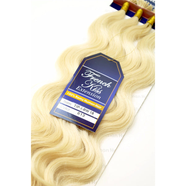 "French Kiss I-Tip 18"" 100% Remy Human Hair Extension - Body Wavy - By Jazz Wave - Waba Hair and Beauty Supply"