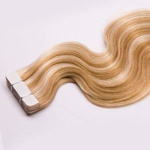 "Adhesive Tape In Extensions Body Wave 1.5"" Adhesive Skin Weft 100% Remy Human Hair By Bohymeâ® - Waba Hair and Beauty Supply"