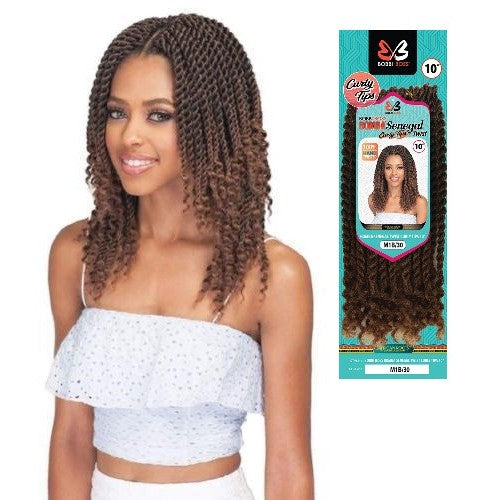 "Bomba Senegal Curly Tips Twists 10"" Crochet Braiding Hair by Bobbi Boss - Waba Hair and Beauty Supply"