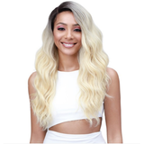 "MBLF550 Daliss 13"" x 4: Hand-Tied Swiss Lace Front Human Hair Blend Wig by Bobbi Boss - Waba Hair and Beauty Supply"