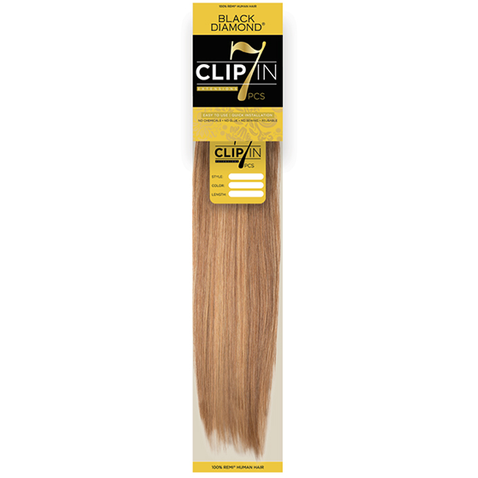 7 Piece Clip In Black Diamond 100 Remy Human Hair Extensions By