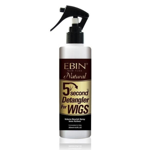 5 Second Detangler For Wigs Spray best for Human & Synthetic Hair By Ebin New York Natural - 8.5 oz - Waba Hair and Beauty Supply