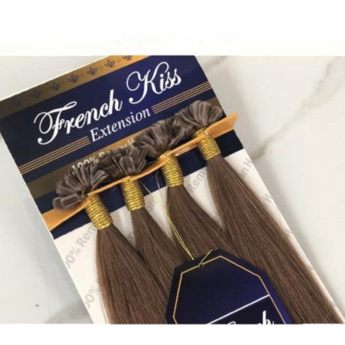 "French Kiss U-Tip Keratin Hot Fusion 18"" 100% Remi Human Hair Extensions - Straight - By Jazz Wave - Waba Hair and Beauty Supply"