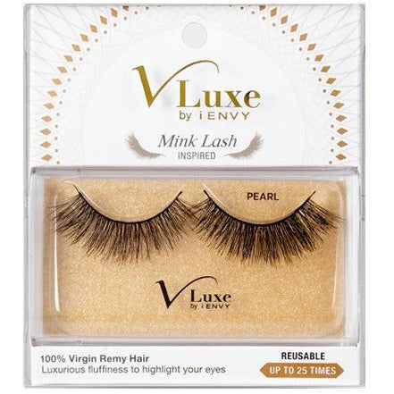 V-LUXE I ENVY - VLEF01 PEARL - MINK LASH INSPIRED 100% VIRGIN REMY TAPERED END STRIP EYELASHES BY KISS