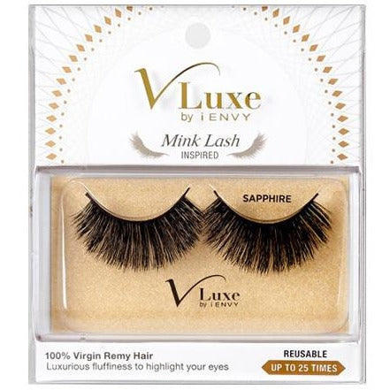 V-Luxe I Envy - Vlef04 Sapphire - Mink Lash Inspired 100% Virgin Remy Tapered End Strip - Waba Hair and Beauty Supply