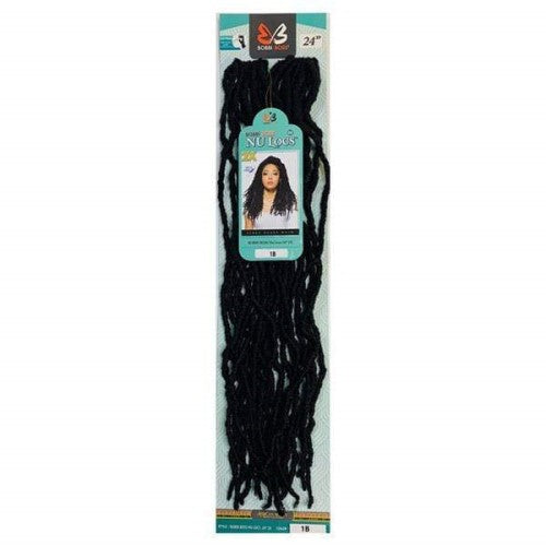 "Nu Locs 24"" 2X African Roots Synthetic Crochet Braid Hair By Bobbi Boss"