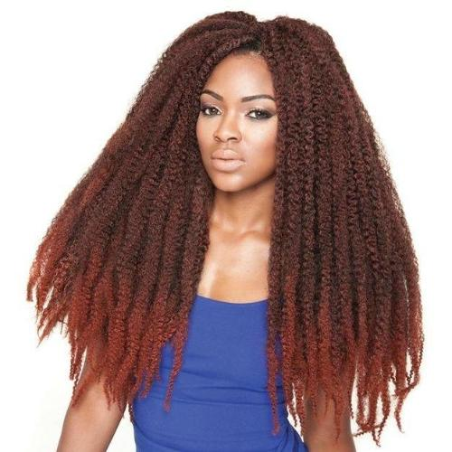 Afro Kinky Marley Braid Synthetic Crochet Twist Braiding Hair By Jazz Wave - Waba Hair and Beauty Supply