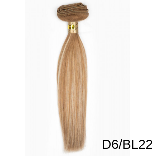 7339066498c2 ... Silky Straight Gold 100% Remy Human Hair Extensions 18