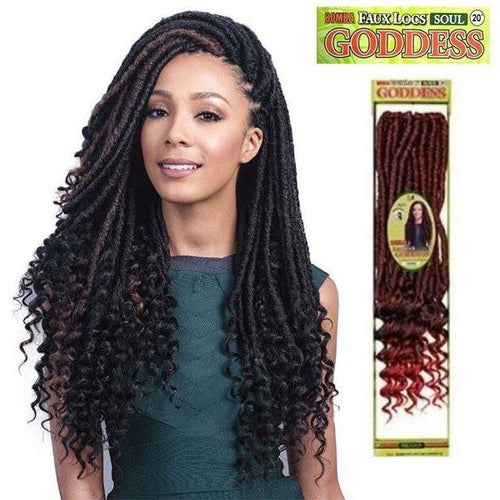 20 Bomba Faux Locs Soul Curly Tips Goddess Crochet Braid Hair By
